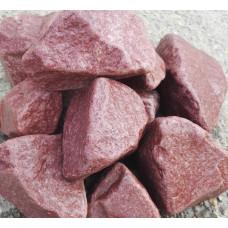 Камень для бани кварцит малиновый обвалованный 20 кг