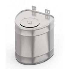 """Бак для теплообменника,  70 л, 0.5 мм, вертикальный, нержавейка (штуцер 3/4"""")"""