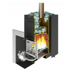 Банная печь Каминика ПБ 22-У/Г газо-дровяная (без горелки)