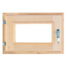 Оконный блок (форточка) стеклопакет липа 40*60