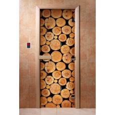 Дверь стеклянная для бани и сауны Фотопечать 190х70, А043