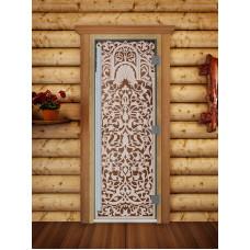 Дверь стеклянная для бани и сауны Престиж Флоренция 190х70