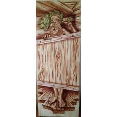 Дверь глухая на иглах Дед 1900*700, сорт А