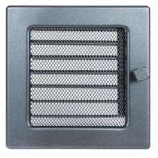Вент.решетка 170х170 мм. графит с жалюзи