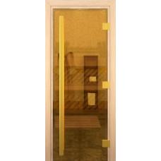 Дверь стеклянная Престиж Престиж Золотая 190х70
