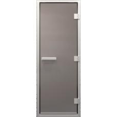 Дверь стеклянная в хамам Сатин 190х80