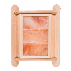 Абажур угловой с гималайской солью, 3 плитки ольха