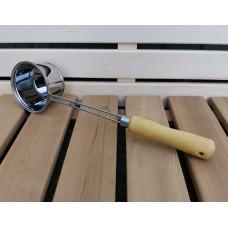 Черпак нержавеющая сталь с деревянной ручкой 400 мл