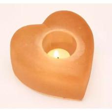 Подсвечник Сердце из гималайской соли