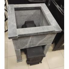 Облицовка из талькохлорита под чугунную печь