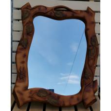Зеркало в раме в ветках ручная резьба тонировка