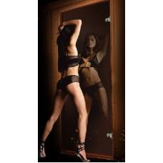 Дверь стеклянная для бани и сауны Зеркальная Бронза 190х70